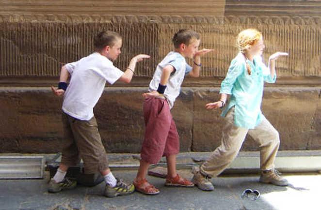 Enfants aux temple de Kom Ombo