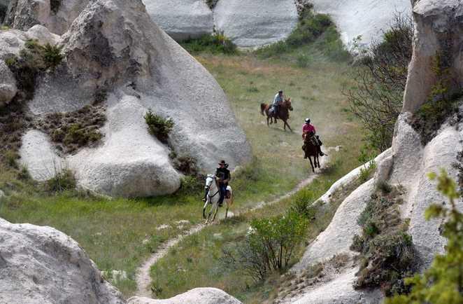 Galop dans les vallées de Cappadoce