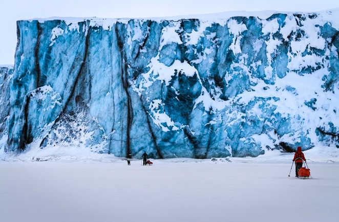Glacier Von post du Spitzberg, Svalbard