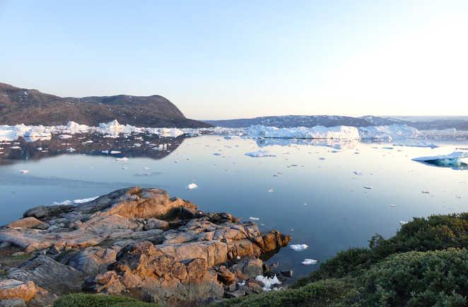 Icebergs dans la baie, Groenland