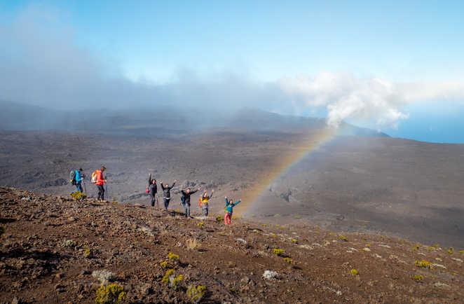 Instant magique dans le massif de la Fournaise à la Réunion