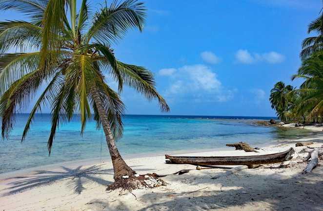 Plage de Caraïbes sur les Islas del Rosario, îles du Rosaire, Colombie