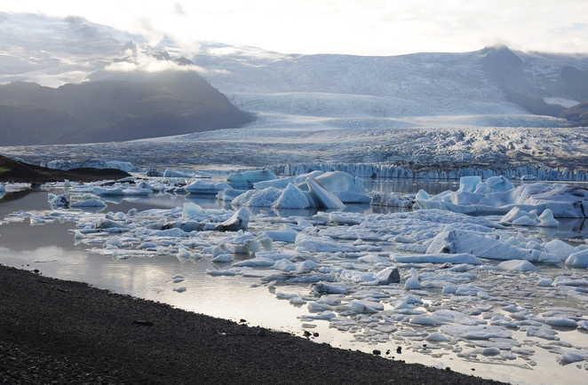 Icebergs en Islande