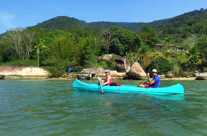 Kayak au saco do Mamangua à Paraty