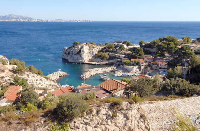 La calanque de Niolon, Côte Bleue, Marseille