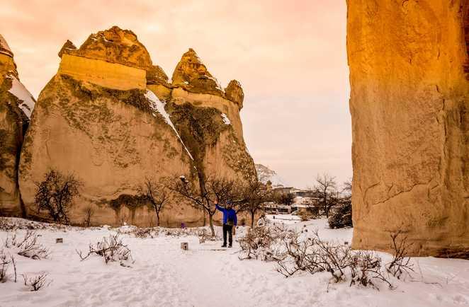 La Cappadoce en hiver en raquettes