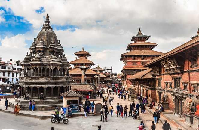 La cité historique de Patan dans la vallée de Katmandou