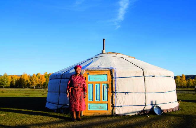 La vie dans les yourtes de Mongolie