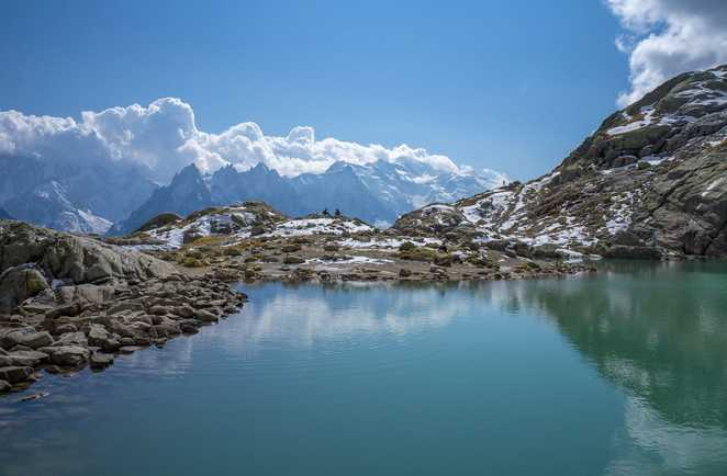Lac Blanc lors du tour des Aiguilles rouges