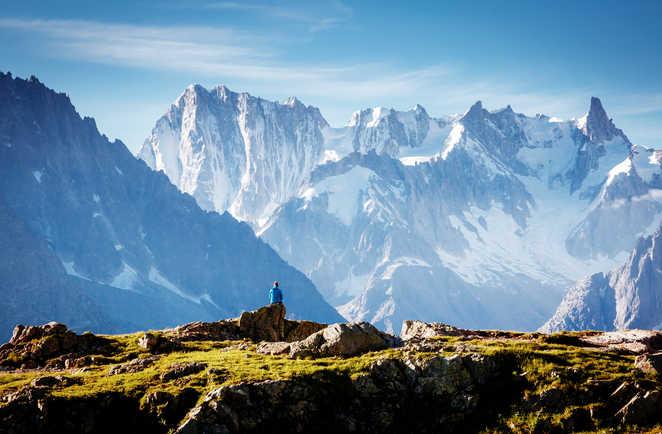 Lac Blanc, vue sur le Mont Blanc