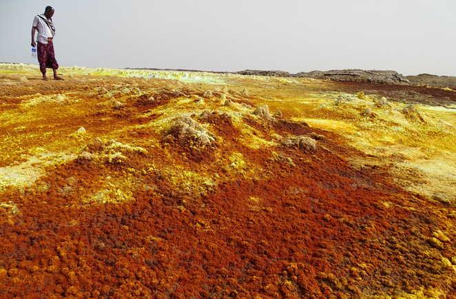 Les couleurs du volcan Dallol en Ethiopie