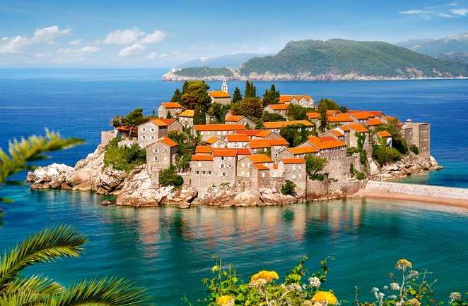 l'île de Sveti Stefan