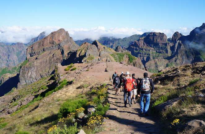 Madere, randonnée aux Picos, montée au Pico Ruivo