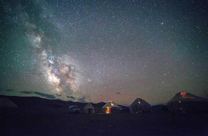 Nuit étoilée kirghizie