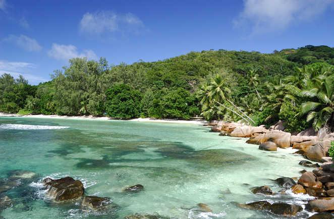 Plage Anse Source d'Argent aux Seychelles