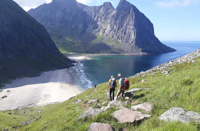 Plage de Kvalvika Norvège