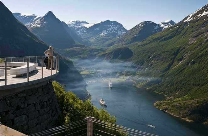 Point de vue au dessus du fjord de Geiranger