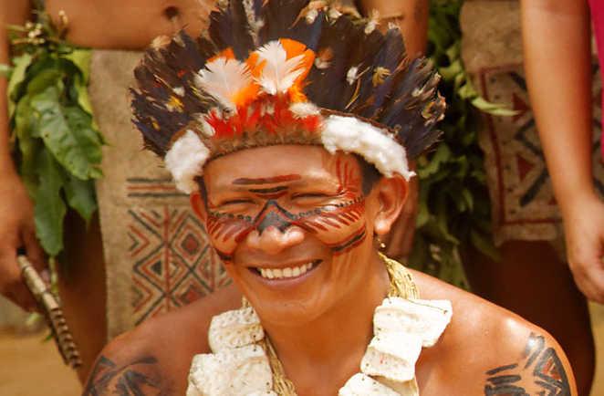 Portrait d'un Indien d'Amazonie