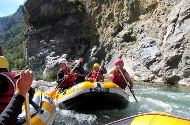 Rafting dans le Queyras en famille