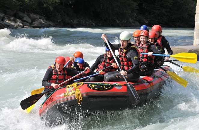 Rafting sur une rivière de Colombie