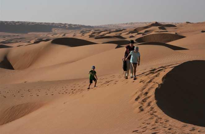 Rando dans les dunes de Wahibah, Oman