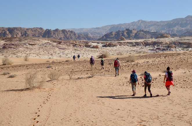 Randonnée dans le désert du Wadi Rum