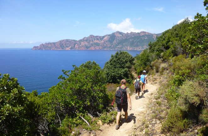 Randonnée dans le golf de Girolata en Corse