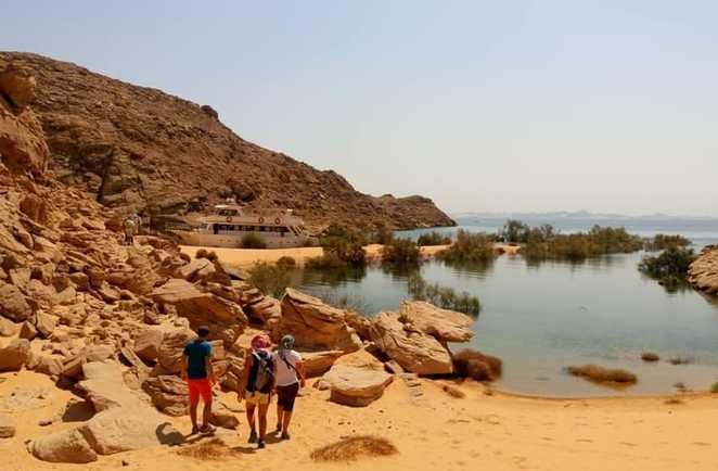 Randonnée le long du Lac Nasser, Egypte
