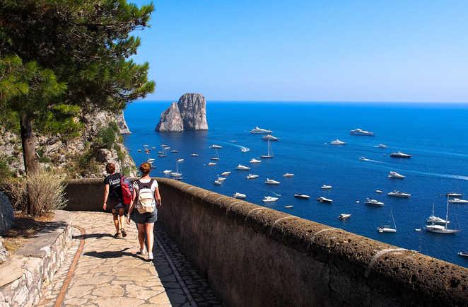 Randonnée sur l'île de Capri