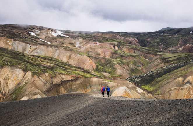 photo de randonneurs en Islande
