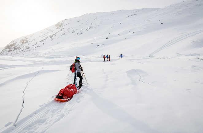 Raquettes et pulka au Groenland
