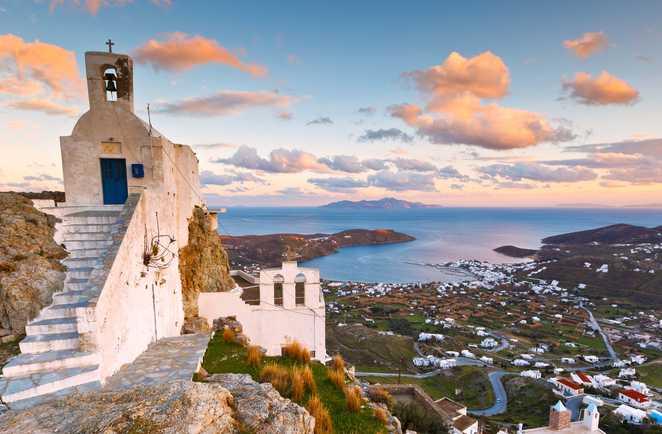 Serifos dans les Cyclades, Grèce