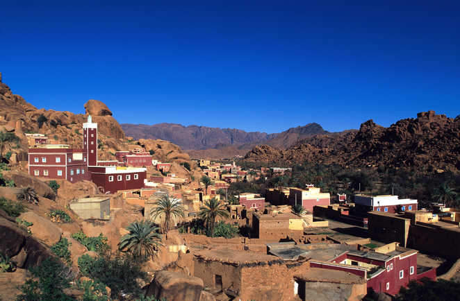 Village de Tafraoute, Anti-Atlas, Maroc