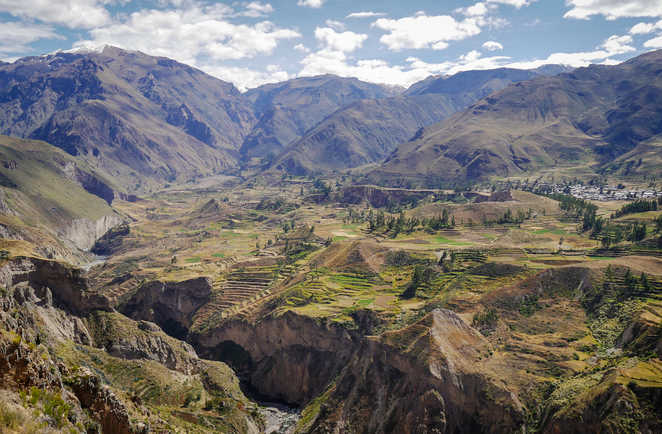 Vue sur le canyon de Colca