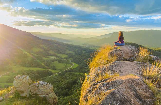 Yoga en montagne à l'île de Pico