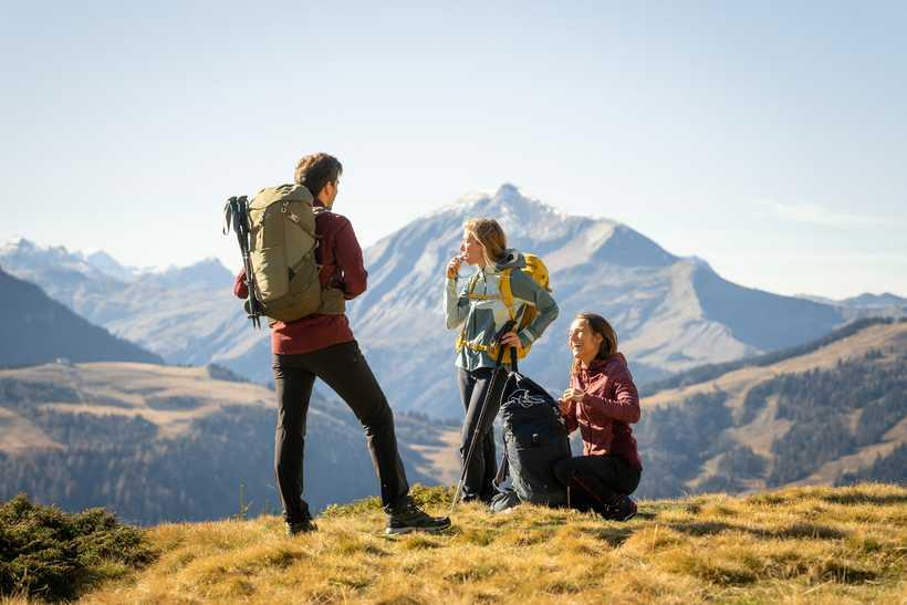 Pause randonnée dans les Alpes