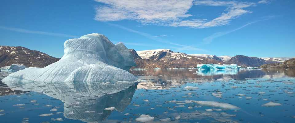 Icebergs au Groenland l'été