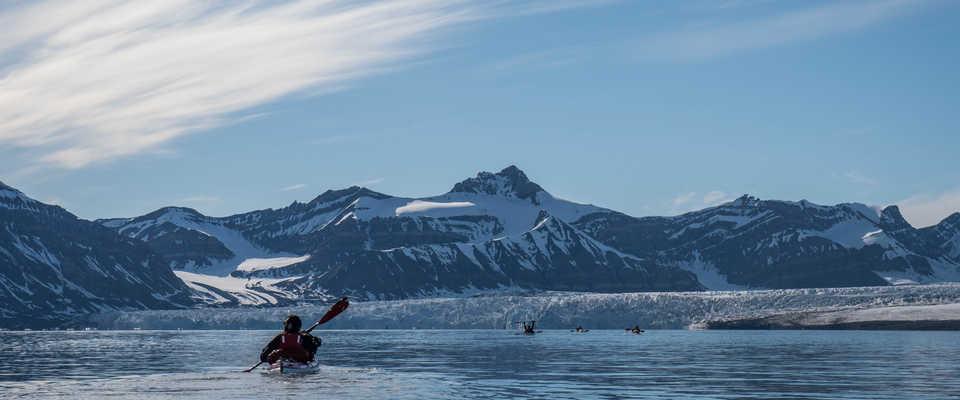 Kaye de mer en Arctique en été, Svalbard